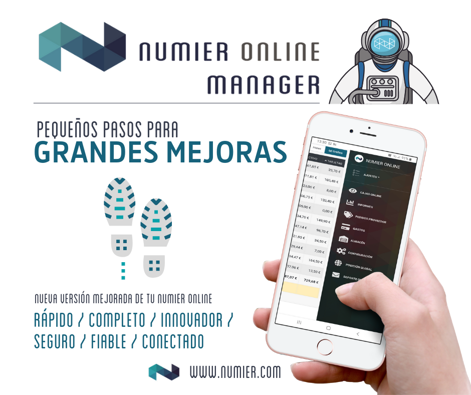 Numier ONLINE Manager, la nueva versión mejorada de tu Numier ONLINE.