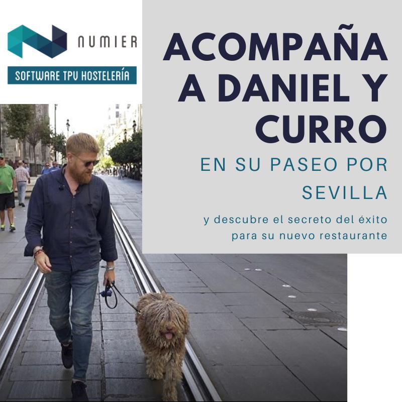 Daniel Del Toro y su perro Curro conocen Numier TPV
