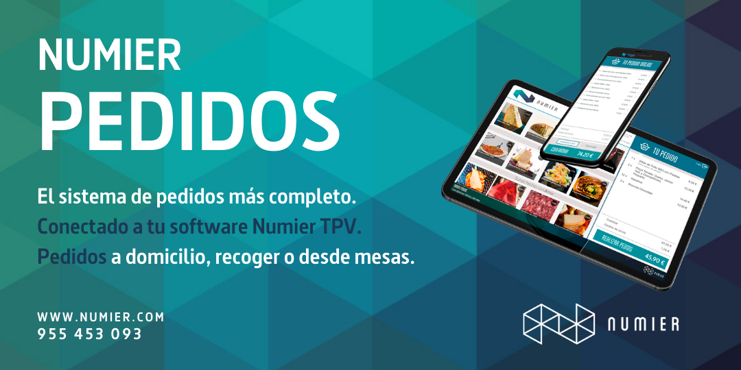 Numier PEDIDOS. Tu propia tienda para «delivery» y «take away» integrada con Numier.